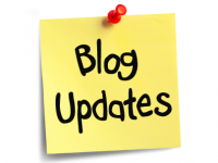 Sticky Note that says Blog Updates