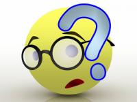 Smiley Emoticon Wearing Glasses And a Question Mark