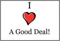 Text reads I love a good deal